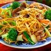 Chow Mein mit Broccoli und Rind
