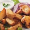 Kartoffelspalten vom Blech