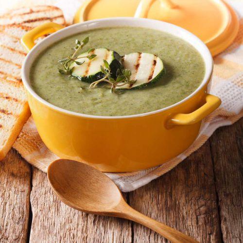 Schnelle-Zucchinicremesuppe