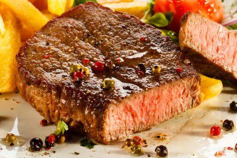 Steak mit Pommes Frites