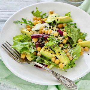 Avocado Kichererbsen Salat vegan
