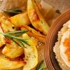 Hummus mit Kartoffelecken